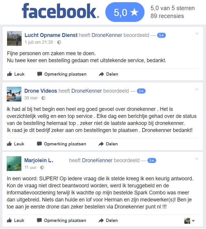 DJI Spark Dronekenner beoordelingen / reviews / testimonials