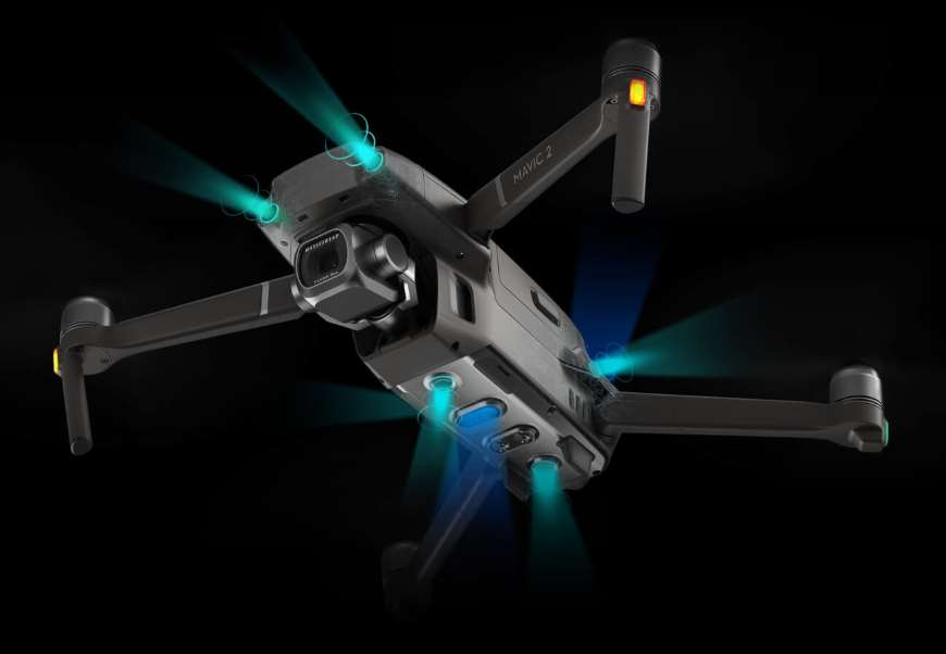 DJI Mavic 2 Pro / Zoom Intelligent flight mode APAS obstakeldetectie