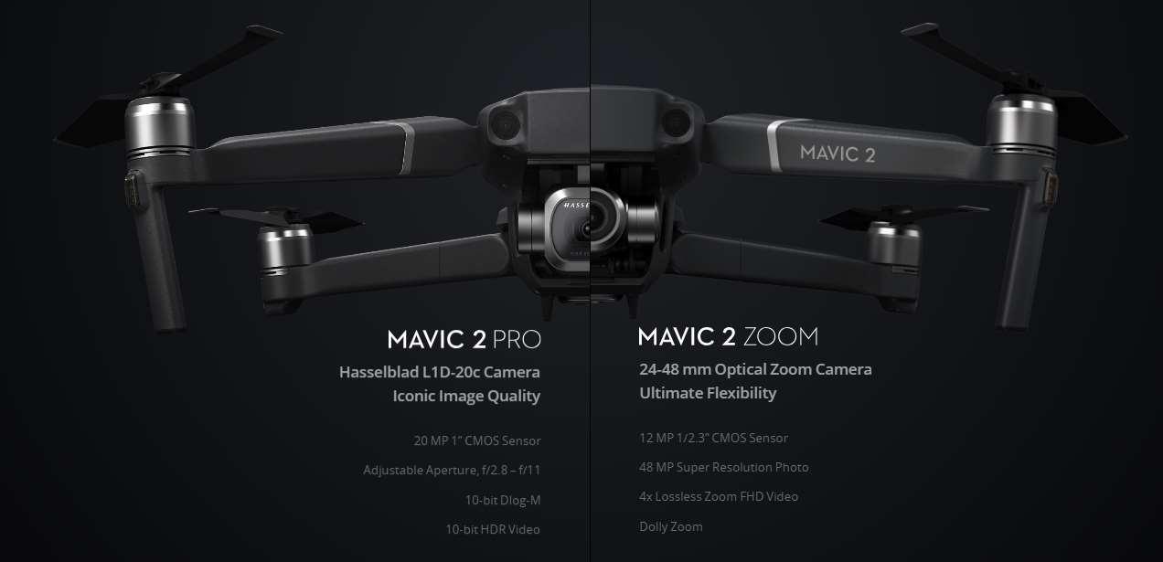 DJI Mavic 2 Pro / Zoom: de verschillen