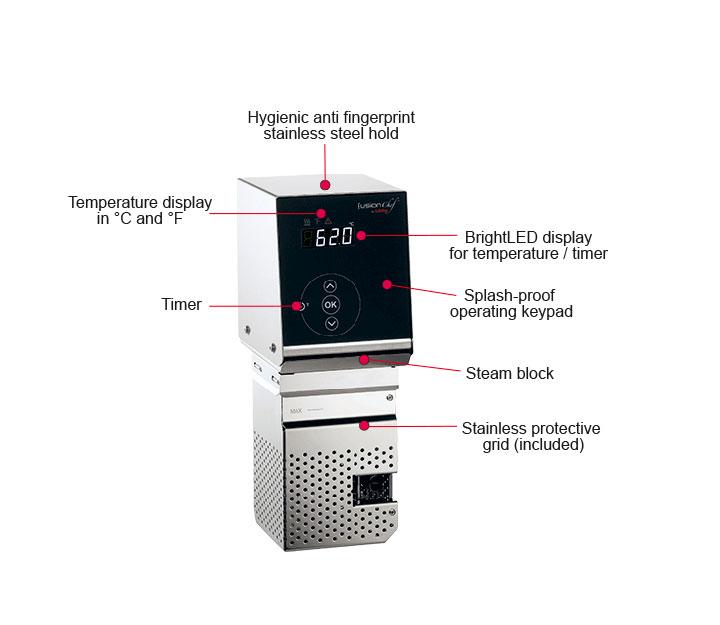 FusionChef Pearl XS sous-vide machine with 13 liter bath
