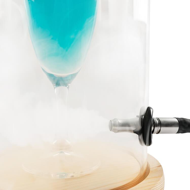 Ziva glass bell jar for smoking cocktails