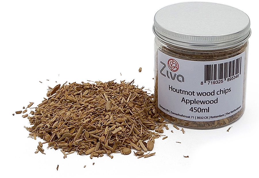 Ziva wood moth wood chips Applewood 450ml