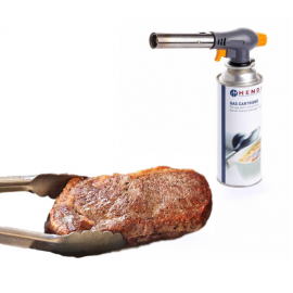 Sous-vide chef's burner with gas canister